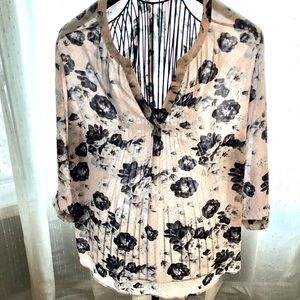 Pink and Grey Rose and Dot Tunic